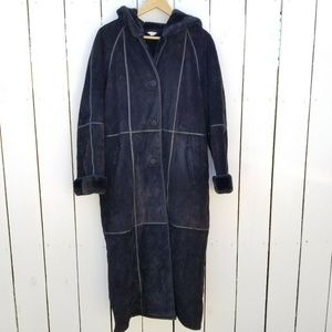 J Percy for Marvin Richards Leather Trench Coat